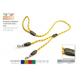 LEASH DOGS-COUPLE NYLON ROUND HAND SEWN