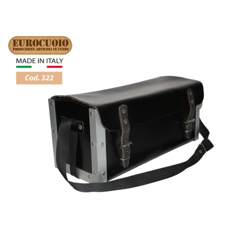 LEATHER BAG FOR ELECTRICIAN WITH SHOCK ABSORBENT LATERAL