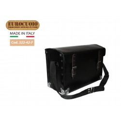 LEATHER BAG FOR ELECTRICIAN WITH SHOCK ABSORBENT SUPPORT